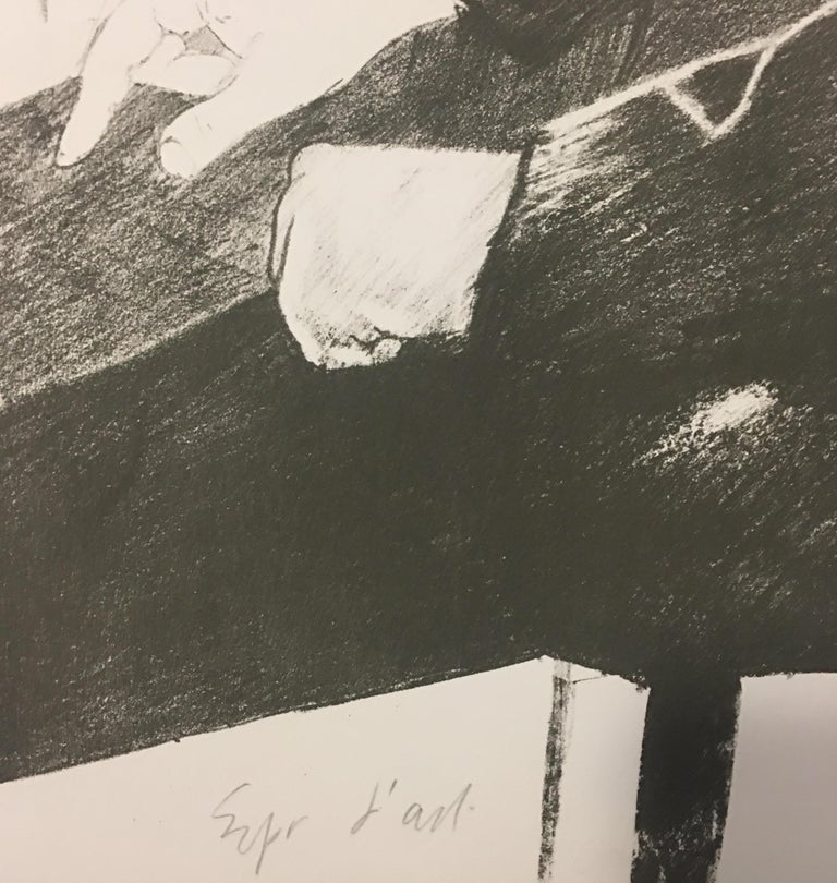 The Print Collector(Portrait of Felix Mann) - 1960s - David Hockney - Lithograph For Sale 2