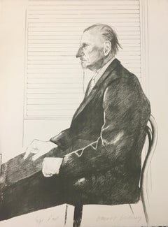 The Print Collector(Portrait of Felix Mann) - 1960s - David Hockney - Lithograph