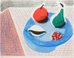 The Round Plate, April 1986 -- Print, Homemade, Still-life by David Hockney