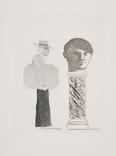 The Student: Homage to Picasso - 20th Century, David Hockney, Picasso, Portrait