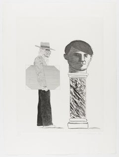 The Student: Homage to Picasso -- Print, Etching, Contemporary by David Hockney
