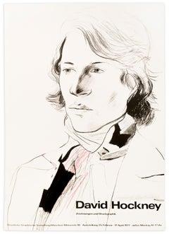 Vintage 1977 Signed David Hockney Poster: Staatliche Graphische Sammlung, Munich