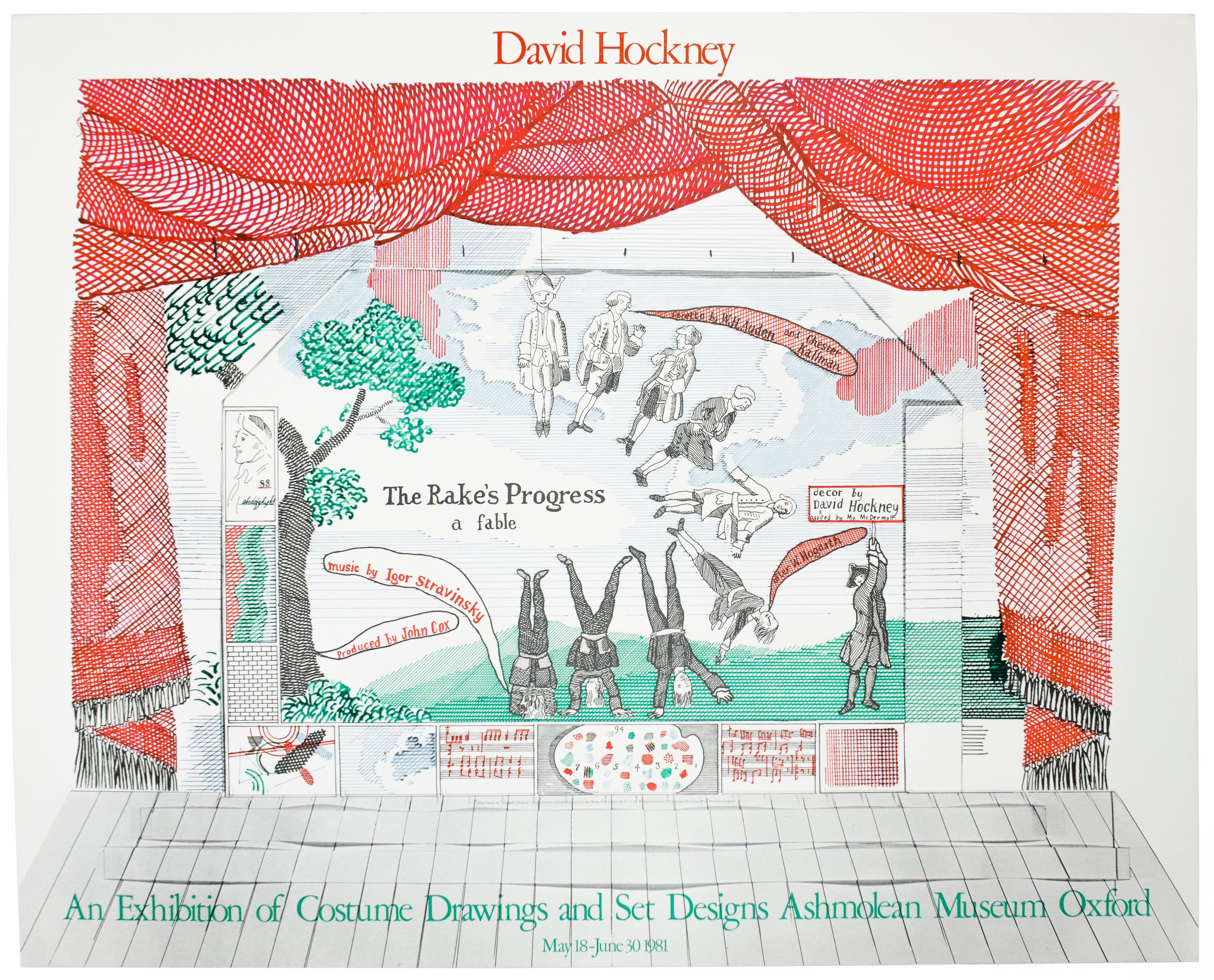 Vintage David Hockney Exhibition Poster Ashmolean Museum 1981