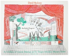 Vintage David Hockney Poster Ashmolean Museum 1981 Costume Stage Set designs