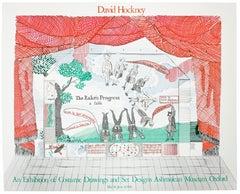 Vintage David Hockney Poster Ashmolean Museum 1981 Costume Stage Set designs