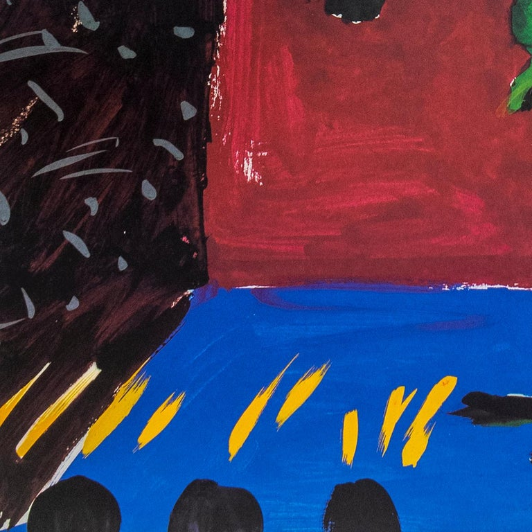 Vintage David Hockney poster Young Playwrights Festival 1982 - Realist Print by (after) David Hockney