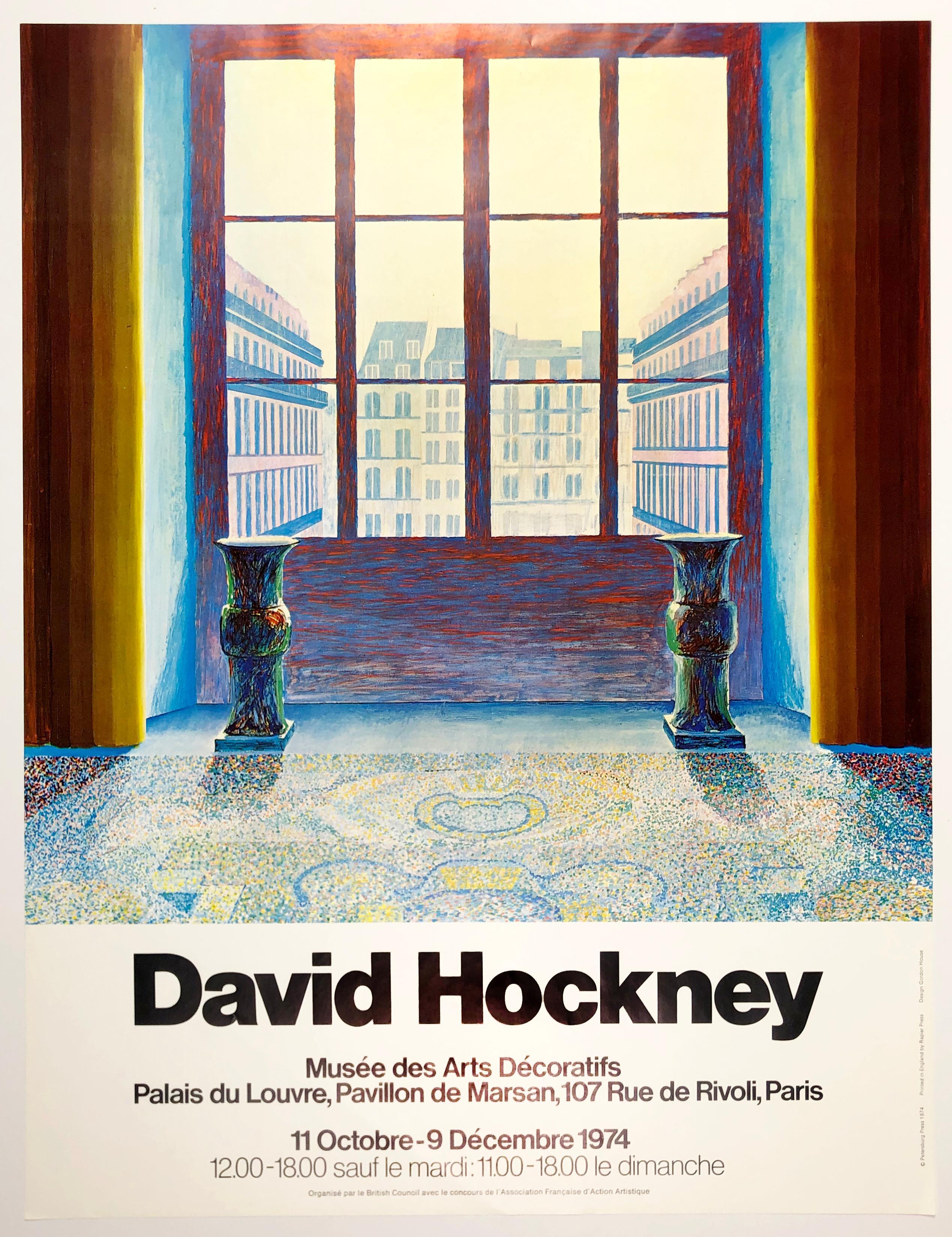 Vintage Hockney poster Musée des Arts Decoratifs Paris 1974