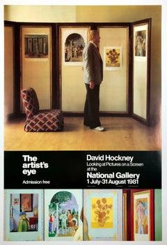 Vintage Hockney poster National Gallery (The Artist's Eye)