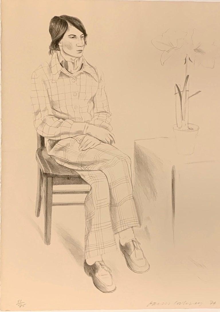 David Hockney Portrait Print - YVES-MARIE