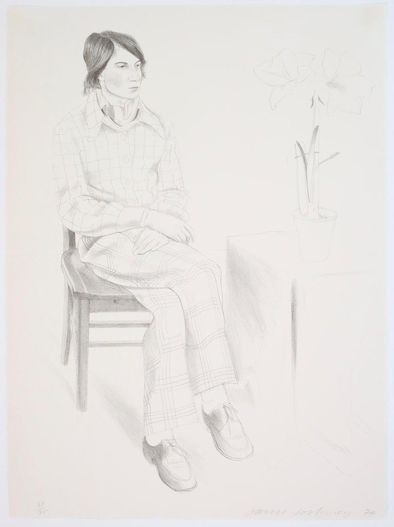 David Hockney Figurative Print - Yves Marie [Hervé]