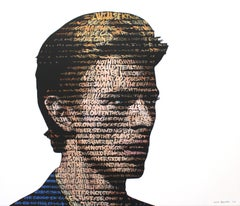 """""""David Bowie"""", Text: Heroes Acrylic on Canvas"""