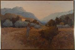 David Hutter (1930-1990) - 1972 Oil, Valley Near Ayerbe