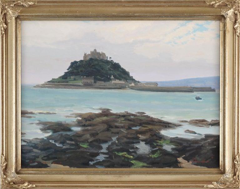 """David J. Saccheri Landscape Painting - """"Mont-Saint-Michel"""" - Landscape"""