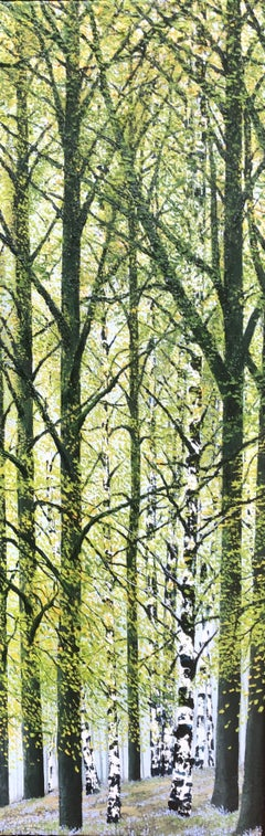 Spring Birches. Contemporary Landscape Oil Painting