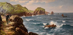 "Oil Painting by David James ""A Cornish Coastal View"""