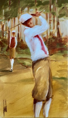 L'oree du bois by David Jamin, Acrylic on canvas, Golf, French, figurative