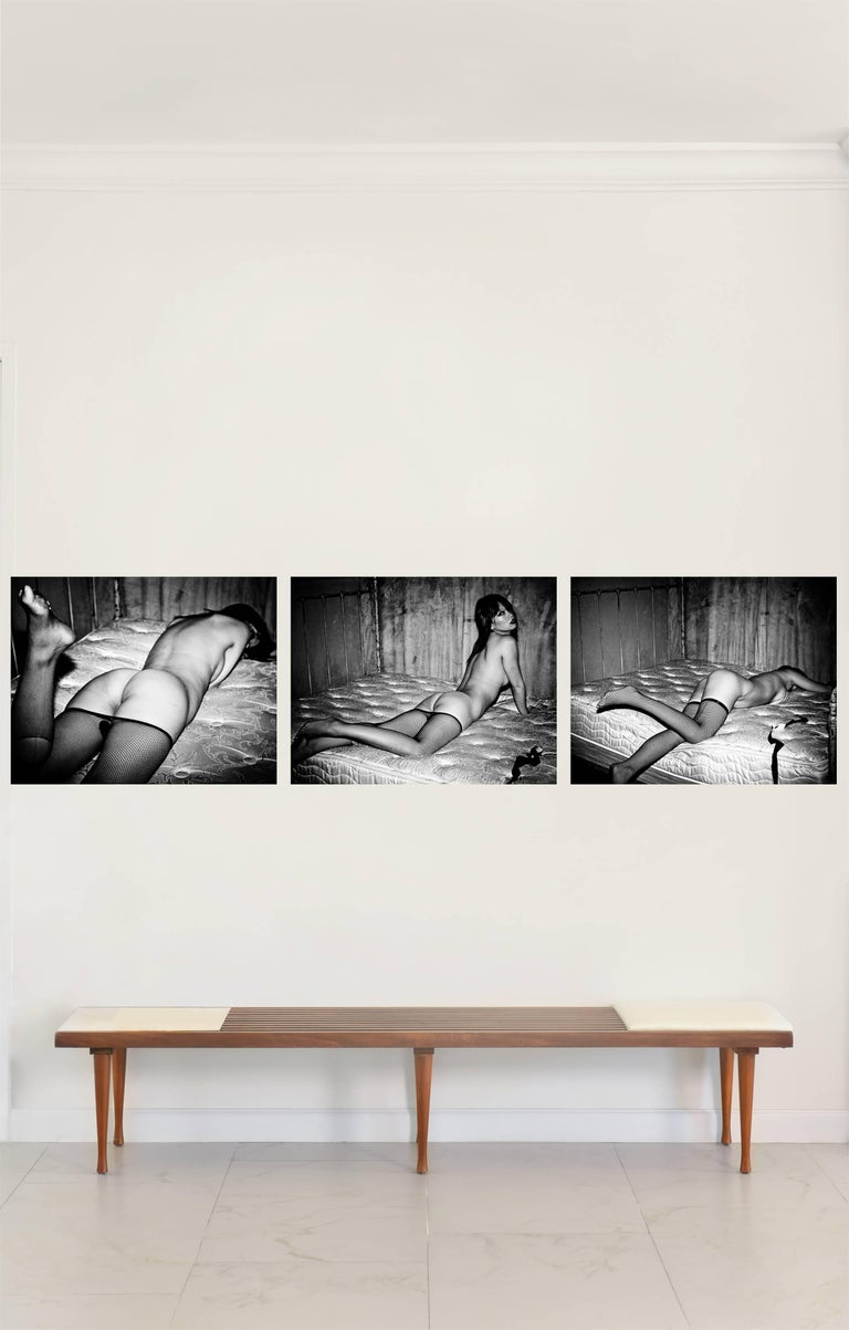 David Jay Black and White Photograph - Shanghai #3, #4 and #6 Triptych, Large Size Nude Portrait B&W Print
