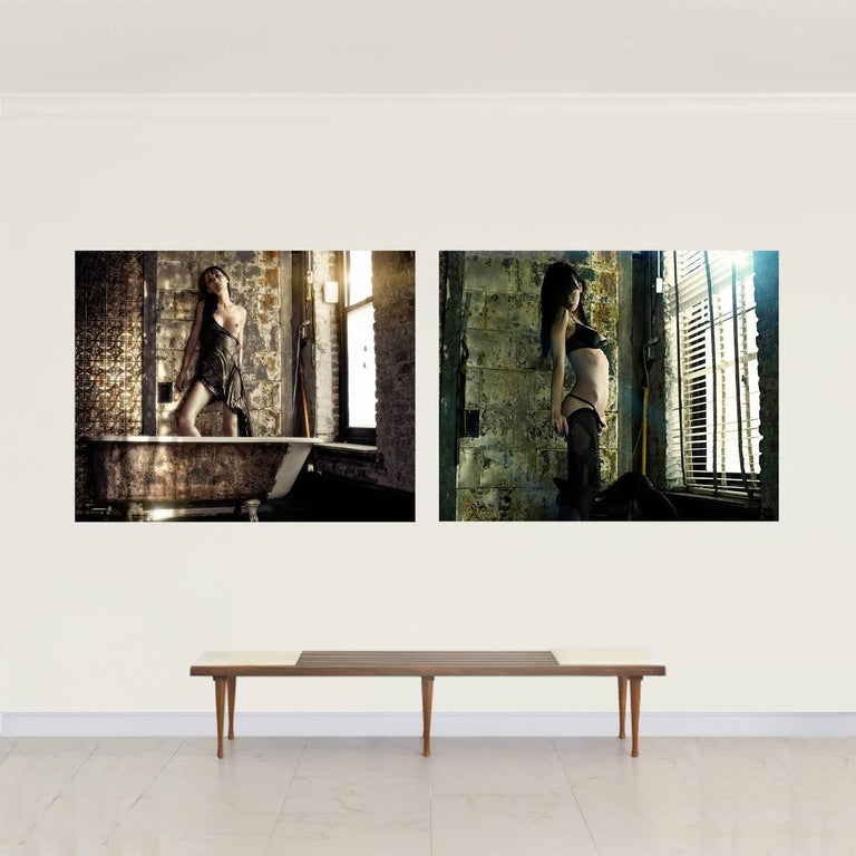 David Jay Nude Photograph -  Shanghai #5 and #1 Diptych, Small Size Nude Portrait Color Photograph