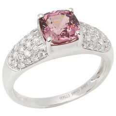 18ct White Gold Spinel and Diamond Dress Ring