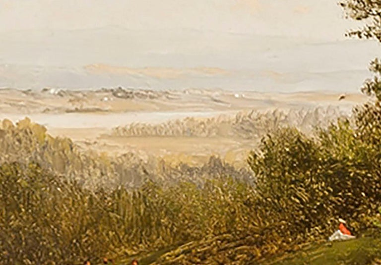 Figure in a Landscape  - Painting by David Johnson