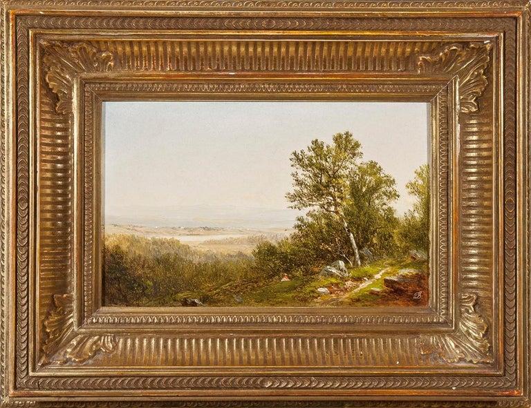 Figure in a Landscape  - Beige Landscape Painting by David Johnson