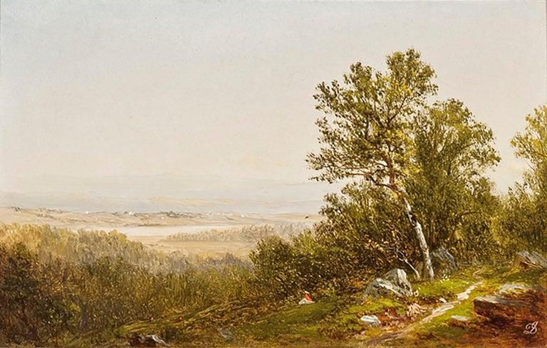 David Johnson Landscape Painting - Figure in a Landscape