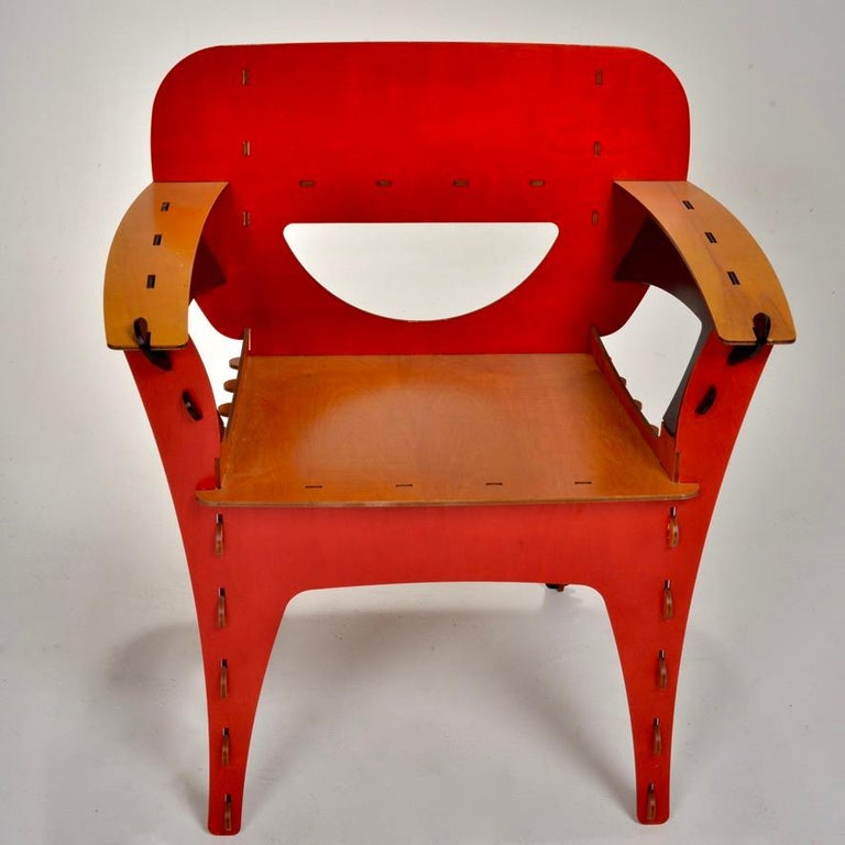 Plywood David Kawecki Puzzle #1 Chairs '40 Available' For Sale