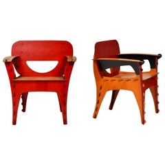 Wood Armchairs