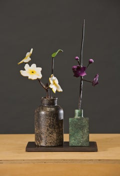 Bronze and steel sculpture, David Kimball Anderson,  'Cosmos and Delphinium'