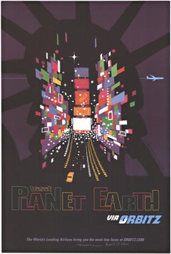 Visit Planet Earth via Orbitz original travel poster