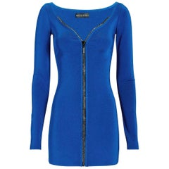 David Koma Crystal-Embellished Zip Mini Dress