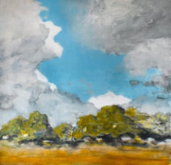 Clearing: Abstract Landscape of Country Field Under Blue Sky By D. Konigsberg
