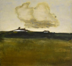 Fields and Houses (Abstract Landscape of Country Farm by David Konigsberg)