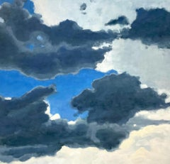 From a Window Seat #1 (Abstract Landscape in Blue and Grey by David Konigsberg)