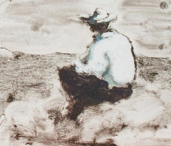 Morning (Abstracted Figurative Painting of a Man in a Country Landscape)