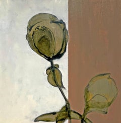 Still to Come: Abstract Still Life Painting of Flowers by David Konigsberg