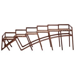 "David Krynauw, ""Jeppestown Waiting Bench"", Wenge and Cowhide String"
