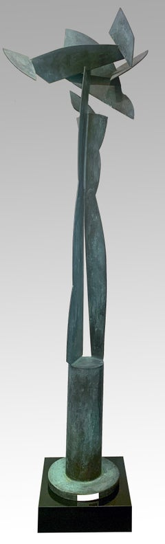 """""""Floral Bella"""", David L Deming, Stainless Steel Contemporary Sculpture, 96x28x16"""