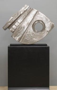 """Rocker V"", David L. Deming, Stainless Steel Contemporary Sculpture, 67x40x13"