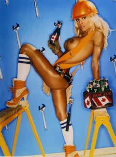 """Tool Time Pam Anderson"" Original 20x24 Edition 12 of 75 by David LaChapelle"