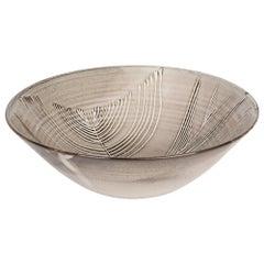 David Leach Feather Design Grey Glazed Studio Pottery Bowl