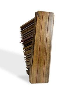 """Eli"" Abstract Wood Sculpture by David Lecheminant, unique texture"