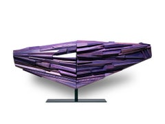 """""""Purple Ascendant"""" Large Abstract Wood Sculpture by David LeCheminant,"""