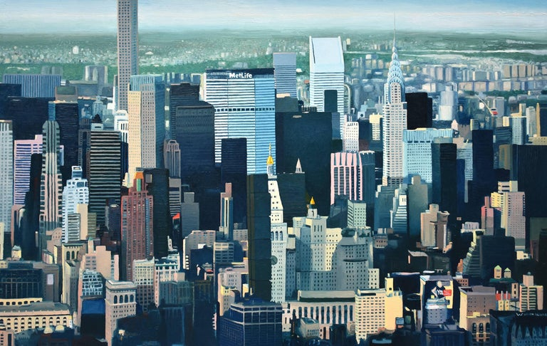 David Leonard Landscape Painting - The Climate of New York