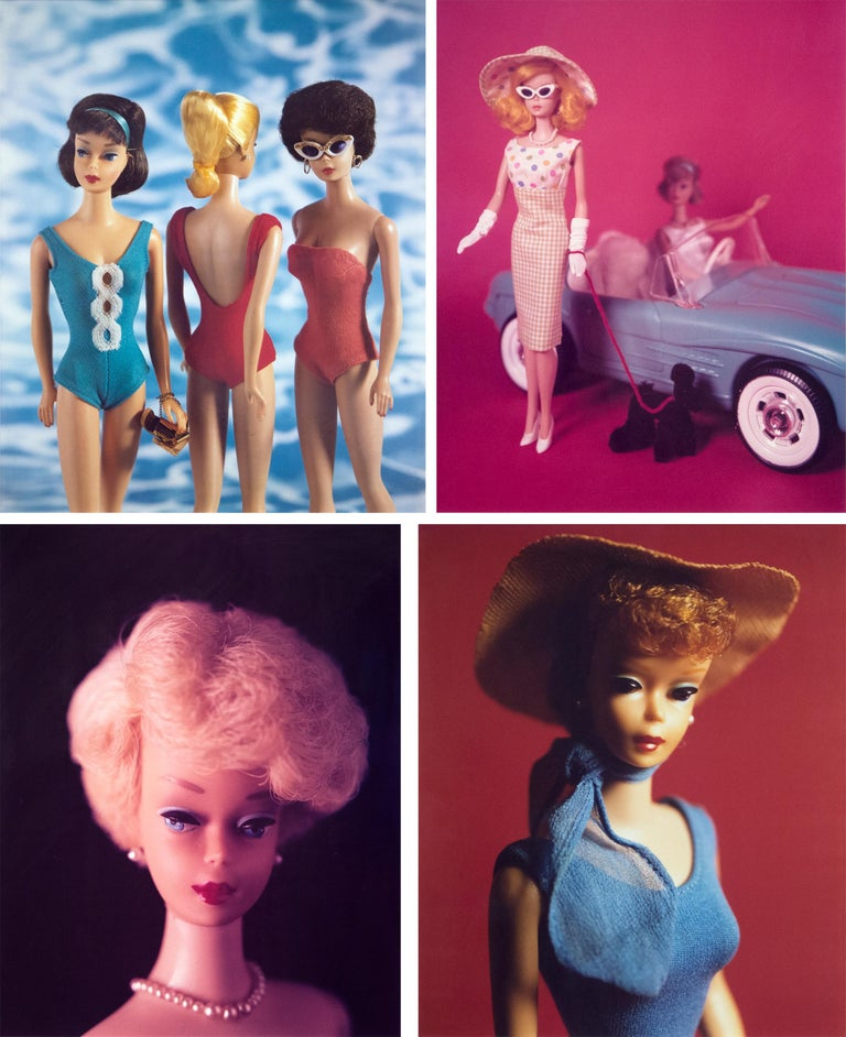 """A work by David Levinthal. """"Untitled (Barbie Series)"""" is a set of Polaroid photographs executed in a bright, colorful palette and depicting vintage Barbie Dolls, by the pool, in couture, and driving sports cars by contemporary artist David"""