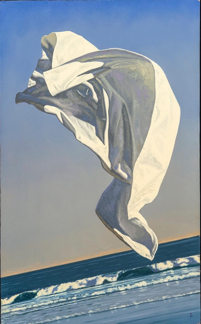 Thrown Drapery (Redux) Study 1  - Painting by David Ligare