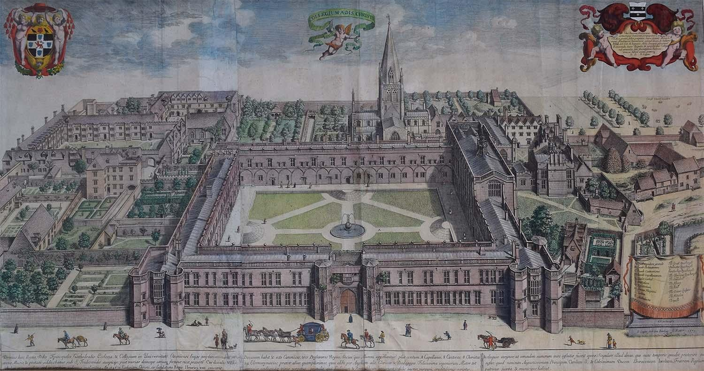 David Loggan 1675 Christ Church Oxford College Engraving 1st Edition