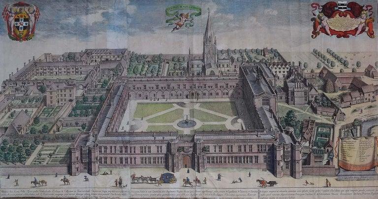David Loggan 1675 Christ Church Oxford College Engraving 1st Edition  - Print by David Loggan