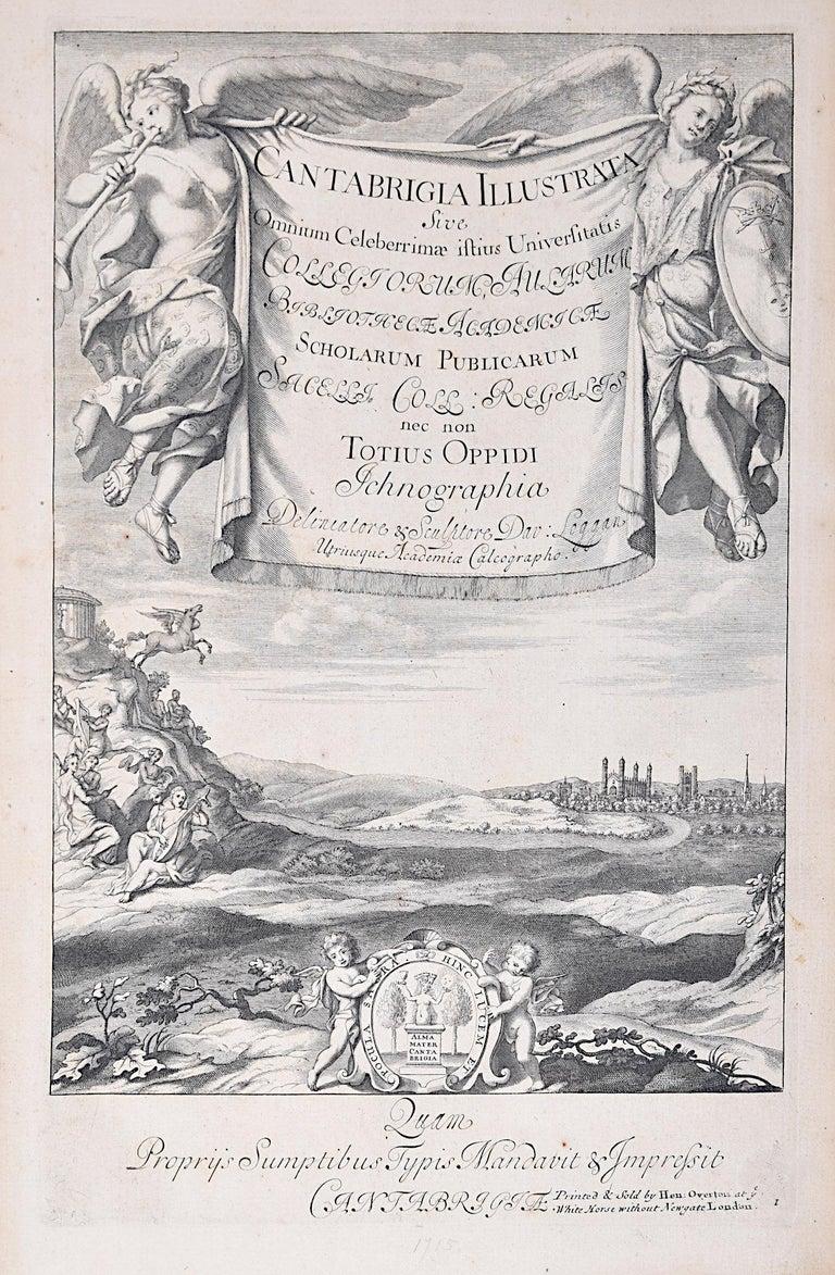 David Loggan Cambridge View Frontispiece Cantabrigia engraving 1715 - Print by David Loggan
