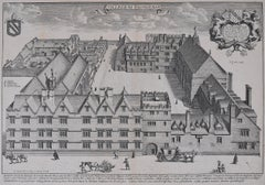 David Loggan Exeter College Oxford - Collegium Exoniense - 1675 engraving